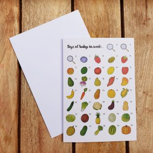 Only Little Pregnancy Greeting Card - Size Of Baby In Week